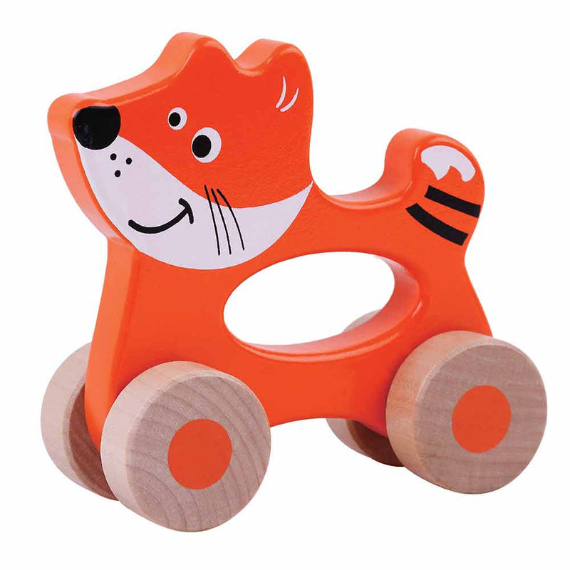 Push Along Wooden Fox