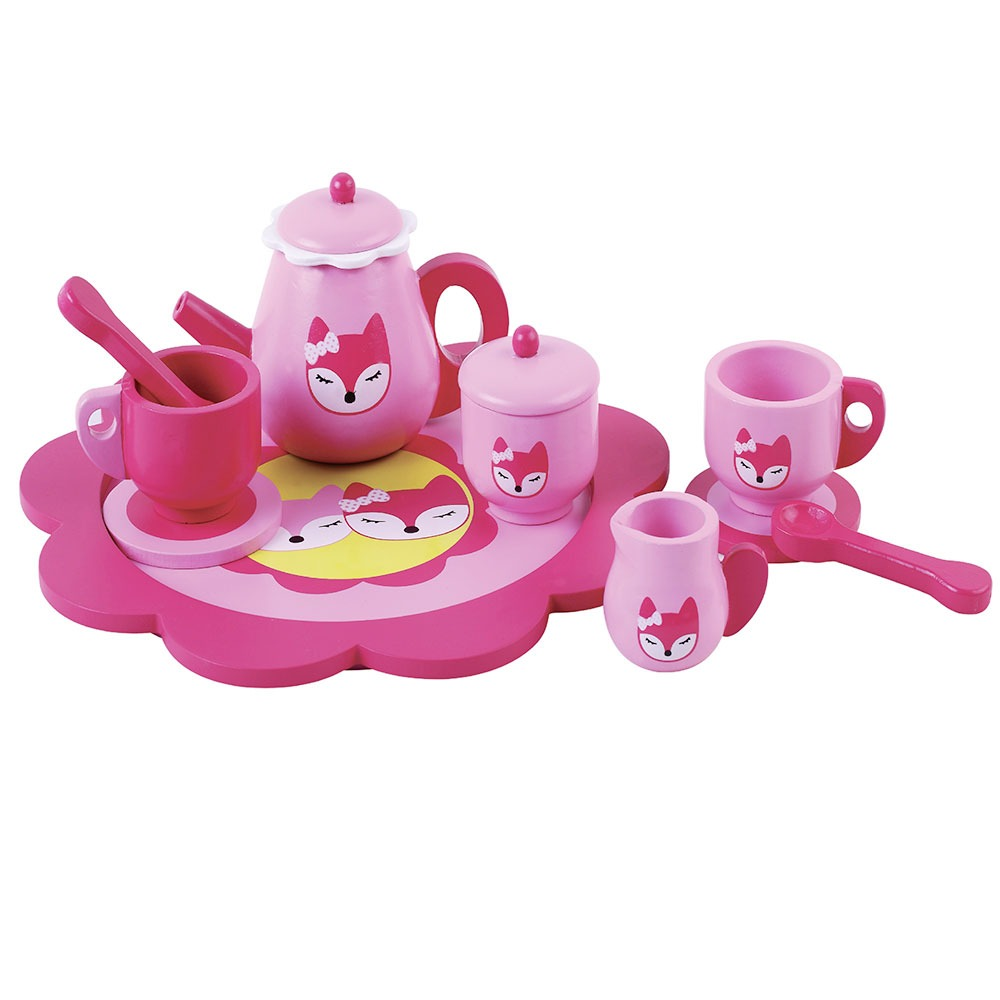 Pink Fox Tea Set