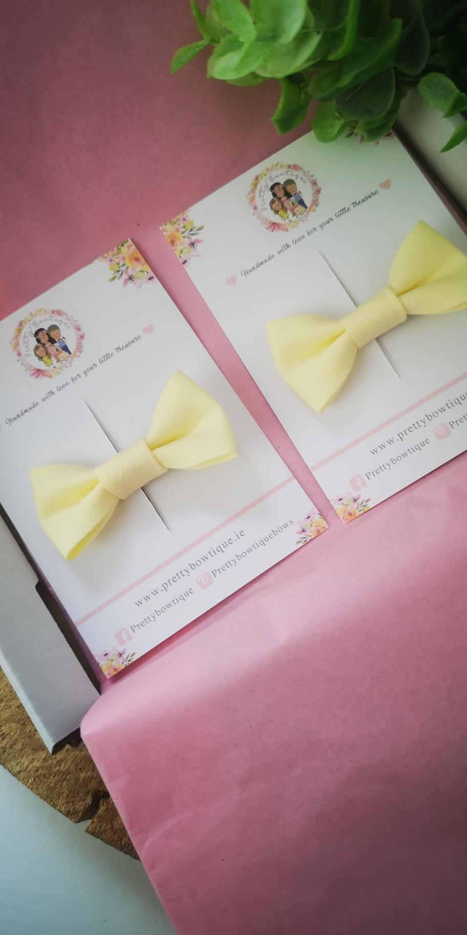Lemon Single Trim Bow Hair Clip