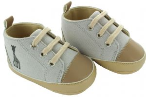 Baby Love SLG Shoes - Beige & Blue Baseball Boot