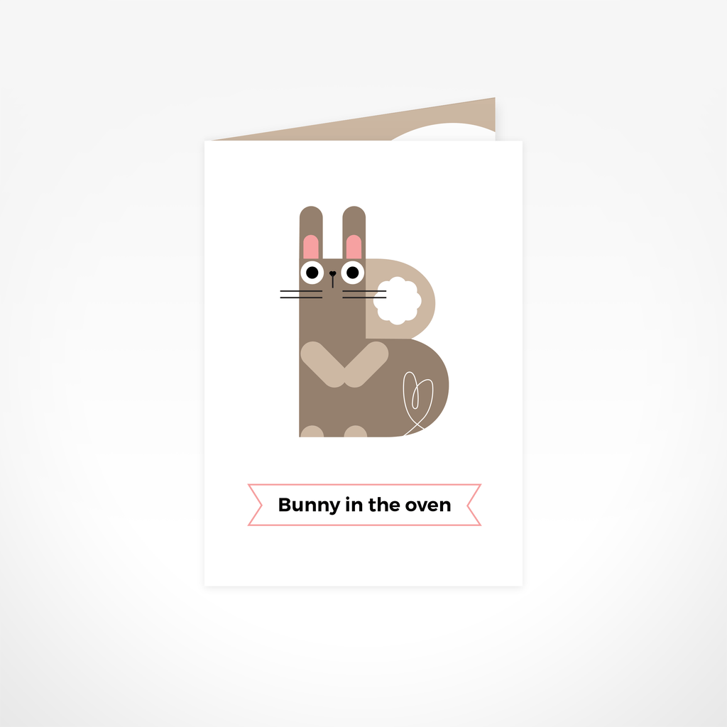 Bunny in the Oven Greeting Card