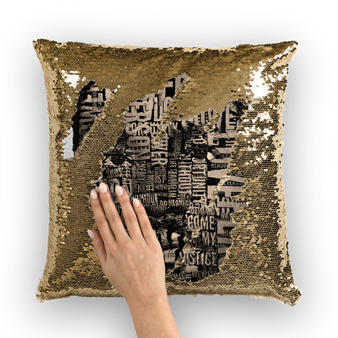 MLK Sequin Cushion Cover