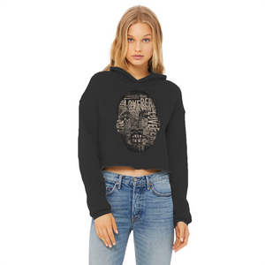 MLK Ladies Cropped Raw Edge Hoodie