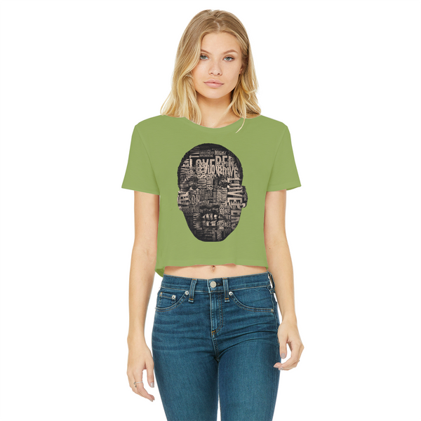 MLK Classic Women's Cropped Raw Edge T-Shirt