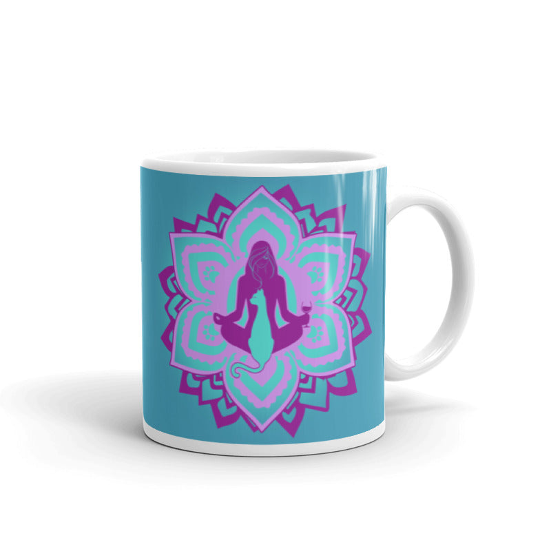 All I Need Is: Yoga, Wine & Cats - Chakra - Coffee Mug