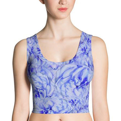 Winter Bloom - Yoga Crop Top