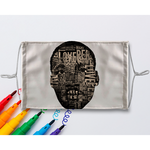 MLK Sublimation Colouring Face Mask