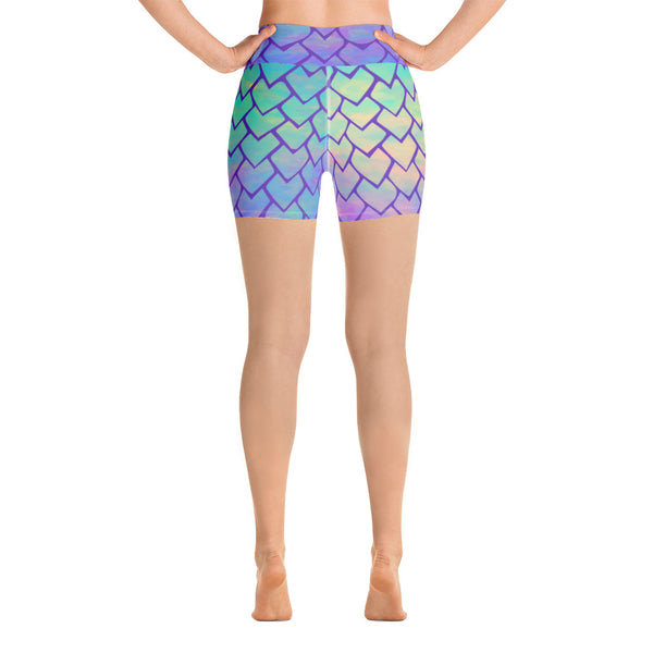 Mermaid - Yoga Shorts