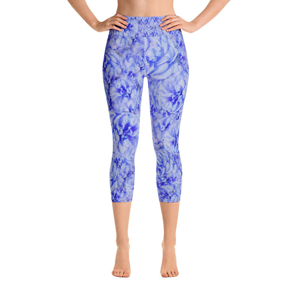 Winter Bloom - Capris Yoga Leggings