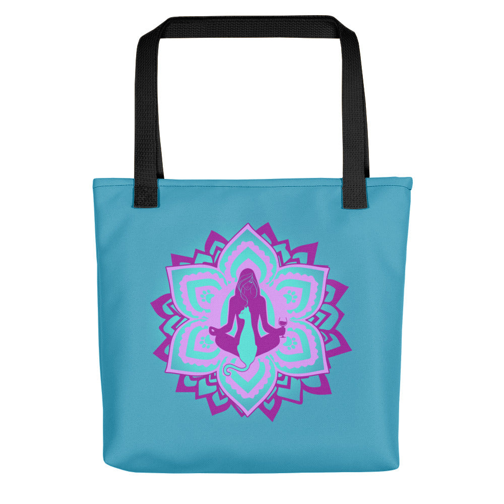 All I Need Is: Yoga, Wine & Cats - Chakra - Tote Bag