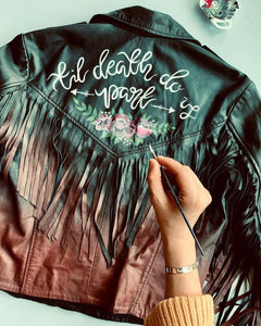 Painted Jacket ( Choice 2 - Lettering + Small Design)