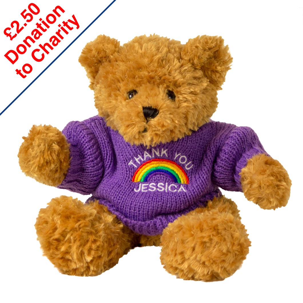 Rainbow Toffee Bear - Your Own Wording