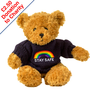 Rainbow Toffee Bear - Stay Safe
