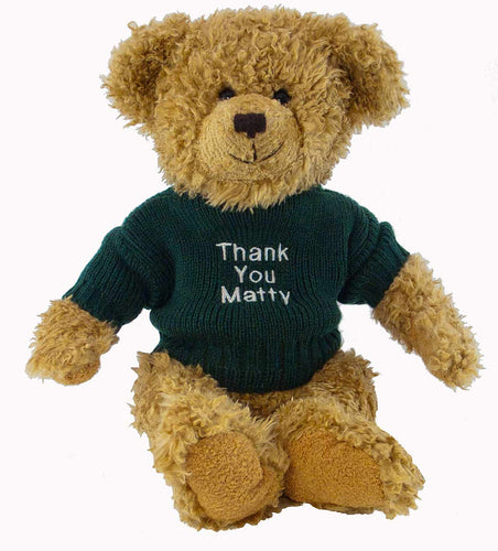 Bertie Bear with Personalised Sweater (Christmas)