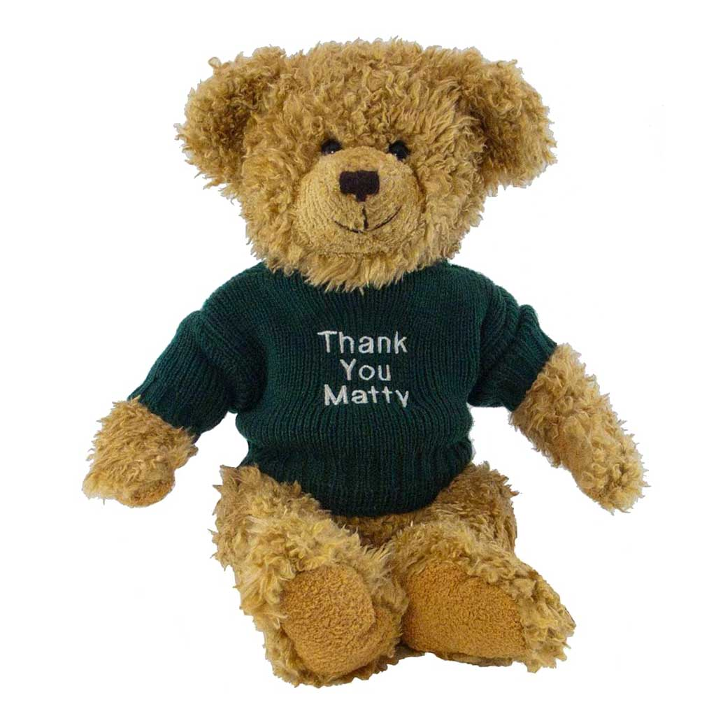 Bertie Bear with Personalised Sweater