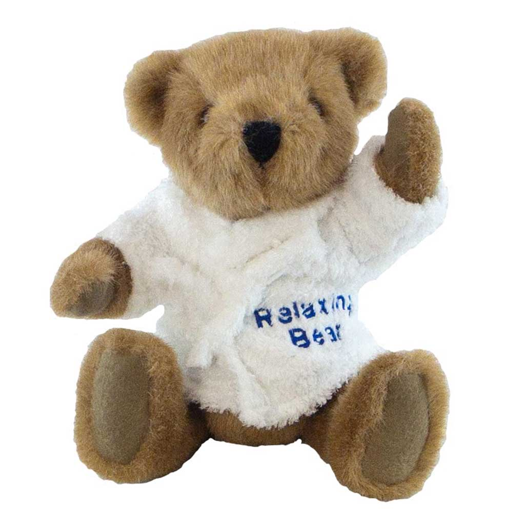 Buster Bear with Personalised Bathrobe