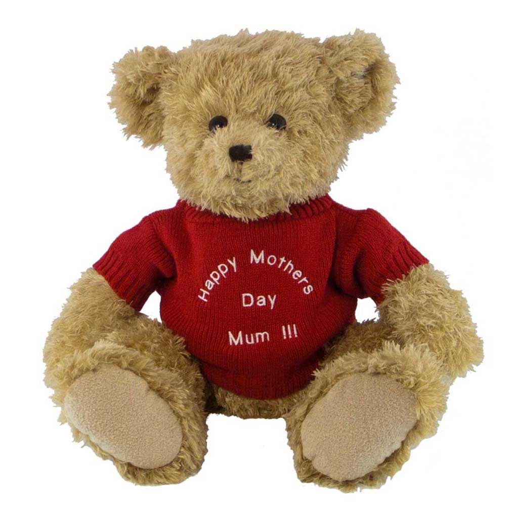 Edward Bear with Personalised Sweater