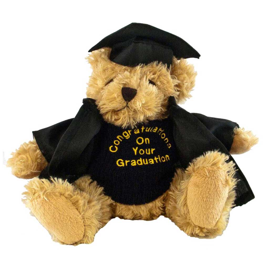 Fudge Bear (Medium) with Graduation Outfit