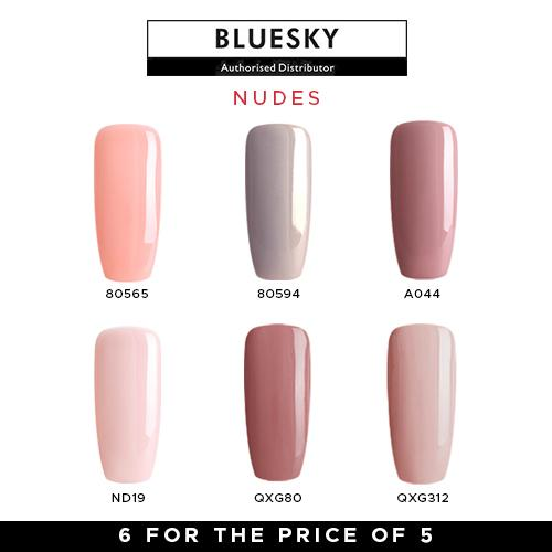 Bluesky Nudes Gel Polish Set