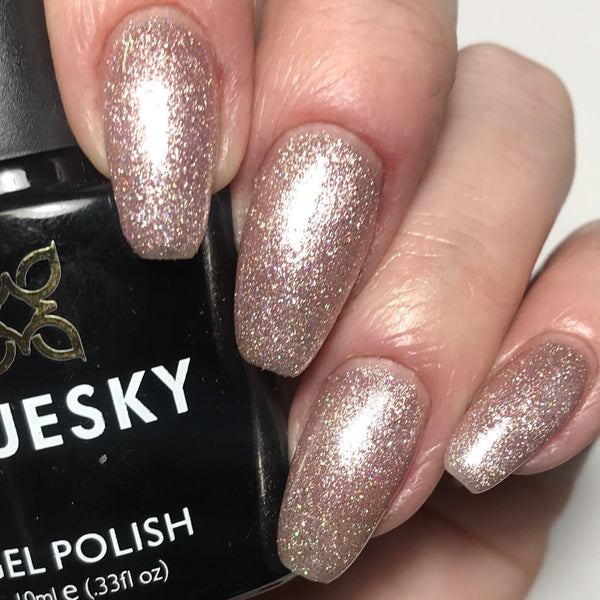 Bluesky Light Pink Glitter Nail Gel Polish - 63903 FAIRY DUST UV/LED Soak Off - Bluesky Nail Gel Polish