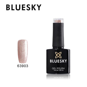 Bluesky Light Pink Glitter Nail Gel Polish - 63903 FAIRY DUST UV/LED Soak Off