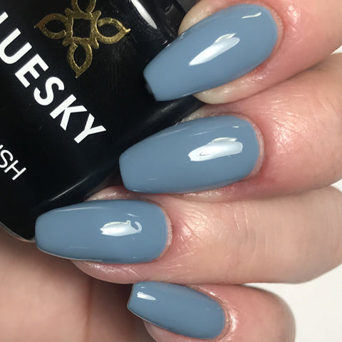 Bluesky Autumn Winter Range 63927 UV/LED Soak Off Gel Nail Polish Blue Grey 10ml - Bluesky Nail Gel Polish