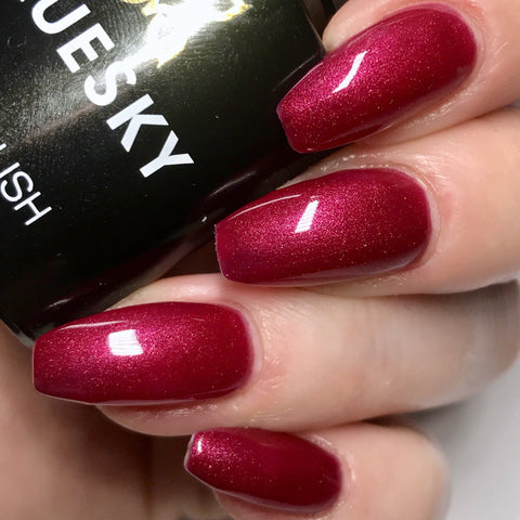 Bluesky 80509 RED BARONESS UV/LED Soak Off Gel Nail Polish 10ml P&P! - Bluesky Nail Gel Polish