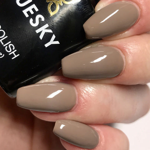Bluesky 80534 RUBBLE UV/LED Soak Off Gel Nail Polish 10ml Mud Slate Stone Brown - Bluesky Nail Gel Polish