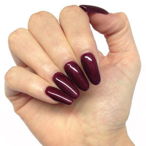 Bluesky 80537 DARK LAVA UV/LED Soak Off Gel Nail Polish - Deep Purple Burgundy - Bluesky Nail Gel Polish