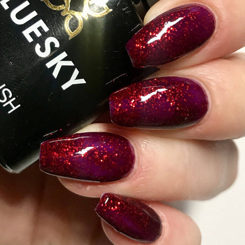 Bluesky 80545 RUBY RITZ UV LED Soak Off Gel Nail Polish 10ml Free P&P! - Bluesky Nail Gel Polish