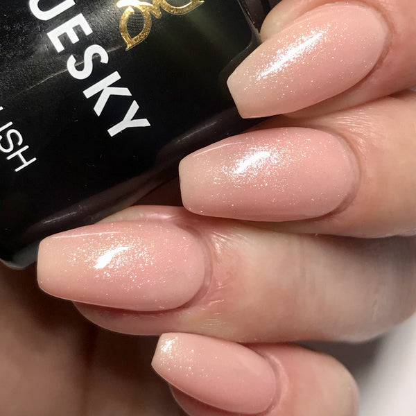 Bluesky 80546 GRAPEFRUIT SPARKLE UV/LED Soak Off Gel Nail Polish Subtle Shimmer! - Bluesky Nail Gel Polish
