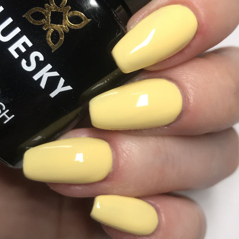 Bluesky 80566 PRIMEROSE YELLOW UV/LED Soak Off Gel Nail Polish 10ml - Bluesky Nail Gel Polish
