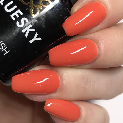 Bluesky 80568 DESERT POPPY UV/LED Soak Off Gel Nail Polish 10ml Free P&P! - Bluesky Nail Gel Polish