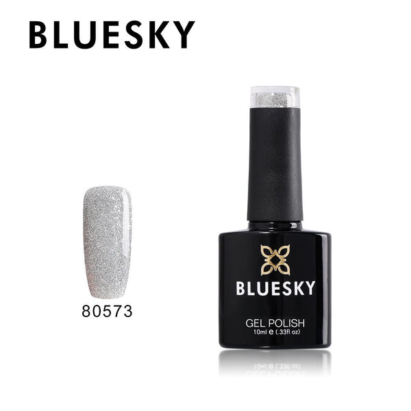 Bluesky 80573 SILVER GLITTER EXPLOSION UV/LED Soak Off Gel Nail Polish 10ml - Bluesky Nail Gel Polish
