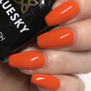 Bluesky 80577 ELECTRIC ORANGE UV/LED Soak Off Gel Nail Polish 10ml Free P&P - Bluesky Nail Gel Polish