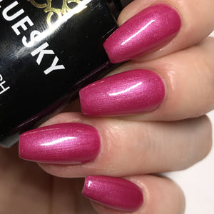 Bluesky 80578 PARADISE PINK SHIMMER UV/LED Soak Off Gel Nail Polish 10ml! - Bluesky Nail Gel Polish