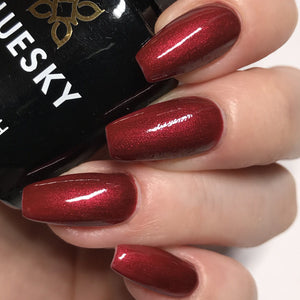 Bluesky 80585 CRIMSON SASH UV/LED Soak Off Gel Nail Polish 10ml Free P&P - Bluesky Nail Gel Polish