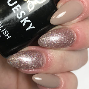 Bluesky Combo 63903 FAIRY DUST & 80594 FIELD FOX UV/LED Soak Off Gel Nail Polish - Bluesky Nail Gel Polish