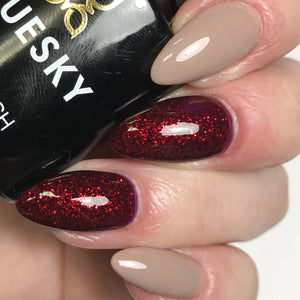 Bluesky Combo 80545 RUBY RITZ & 80594 FIELD FOX UV/LED Soak Off Gel Nail Polish - Bluesky Nail Gel Polish