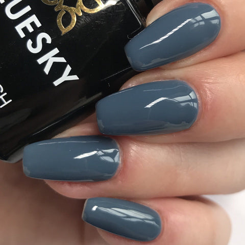Pastel Blue Gel Nail Polish - Nail and Manicure Trends