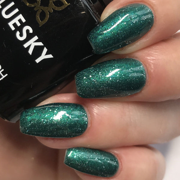 Bluesky 80635 EMERALD LIGHTS UV/LED Soak Off Gel Nail Polish Free Postage 10ml - Bluesky Nail Gel Polish
