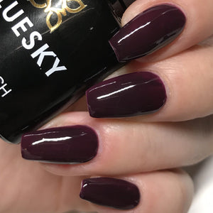 Bluesky A 16 BURGUNDY BROWN UV/LED Soak Off Gel Nail Polish 10ml Free P&P - Bluesky Nail Gel Polish