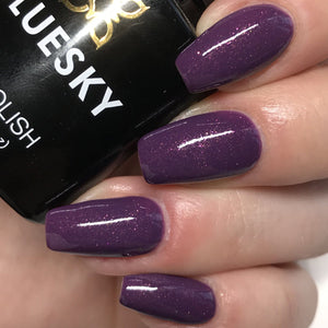 Bluesky A 03 PLUM SHINE UV/LED Soak Off Gel Nail Polish 10ml Free Postage - Bluesky Nail Gel Polish