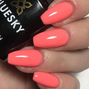 Bluesky A 74 PINK NEON CORAL UV/LED Soak Off Gel Nail Polish - A74 Bright Summer - Bluesky Nail Gel Polish