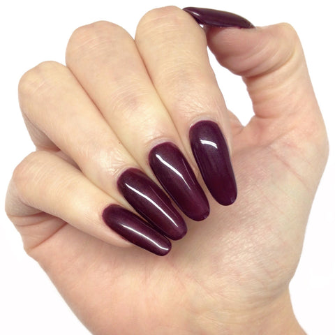 Bluesky A 07 DARK BURGUNDY UV/LED Soak Off Gel Nail Polish 10ml Free Postage - Bluesky Nail Gel Polish