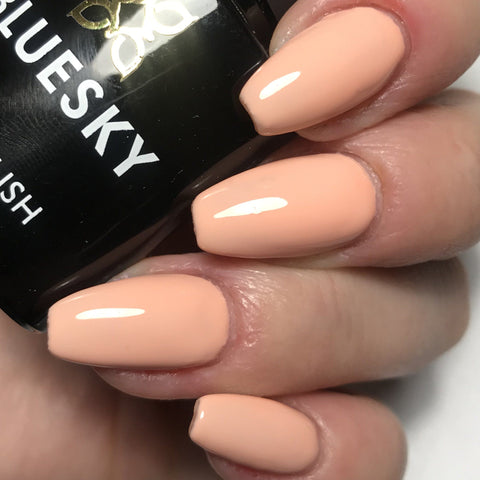 Bluesky A 95 PEACH NUDE UV/LED Soak Off Gel Nail Polish - Spring Summer Pastel - Bluesky Nail Gel Polish