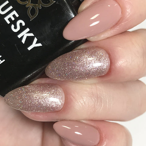 Bluesky Combo A44 PINK MUSK & 63903 FAIRY DUST V/LED Soak Off Gel Nail Polish - Bluesky Nail Gel Polish