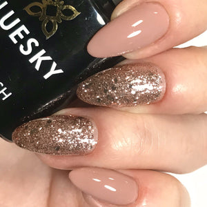Bluesky Combo A44 PINK MUSK & S06N PINK CHAMPAGNE V/LED Soak Off Gel Nail Polish - Bluesky Nail Gel Polish