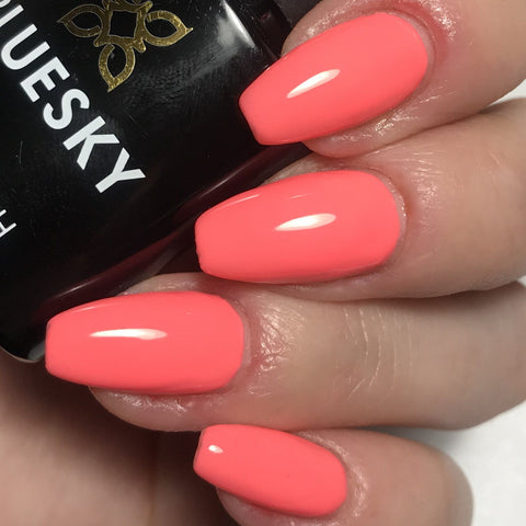 Bluesky DC55 PEACH BLOSSOM UV LED Soak Off Gel Nail Polish 10ml - Summer Coral - Bluesky Nail Gel Polish