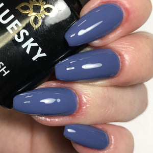 Bluesky Autumn Winter BIG BLUE MARBLE V/LED Soak Off Gel Nail Polish - AW1805 - Bluesky Nail Gel Polish